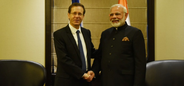 Modi meets with Isaac Herzog Leader of Opposition of Israel=