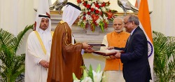 Modi with Qatar PM