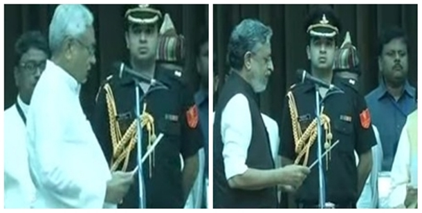 Nitish Kumar takes oath as Bihar CM=