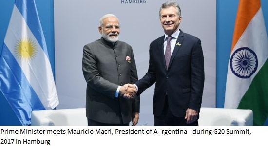 Prime Minister Modi meets Mauricio Macri, President of Argentina=