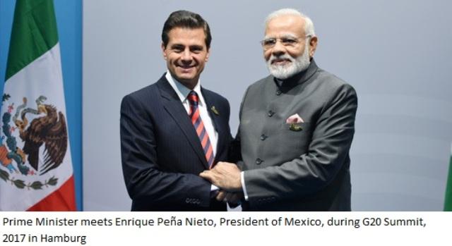 Prime Minister meets Enrique Peña Nieto, President of Mexico=