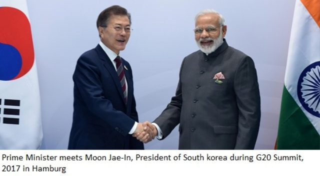 Prime Minister Modi meets Moon Jae-In, President of South Korea=