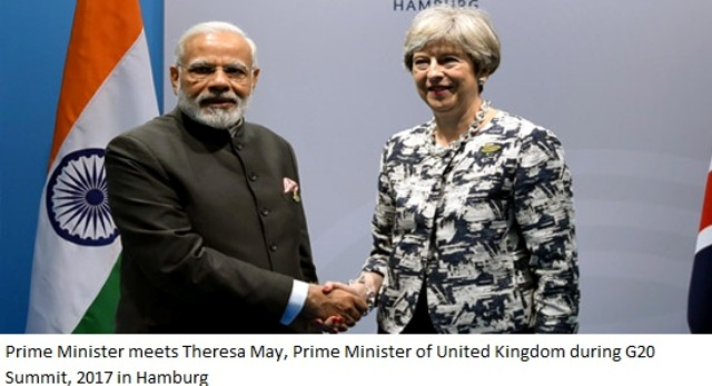 Prime Minister Modi meets Theresa May=