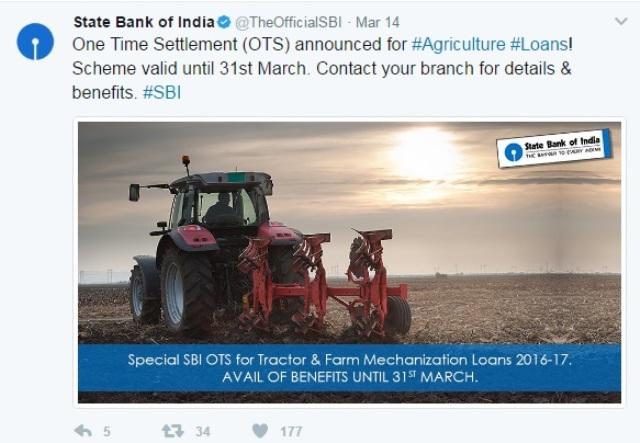 SBI announces Tractor Loan Settlement scheme