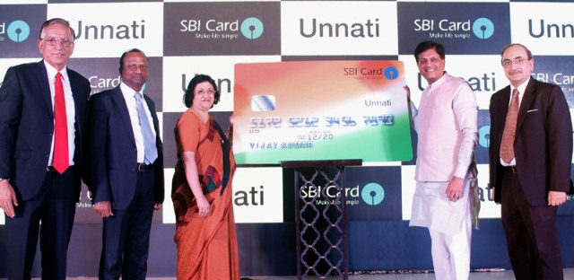 SBI card unnati piyush goyal