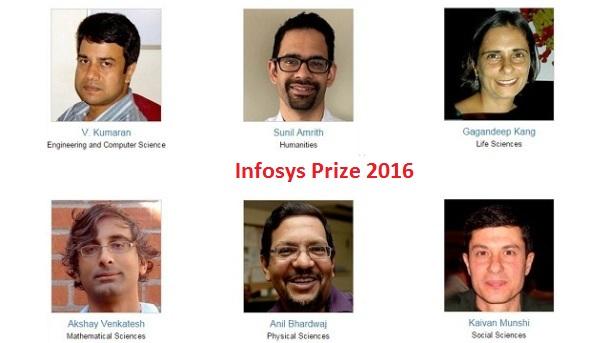 Infosys Prize 2016