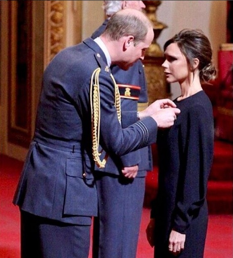 Victoria Beckham appointed Officer of the Order of the British Empire