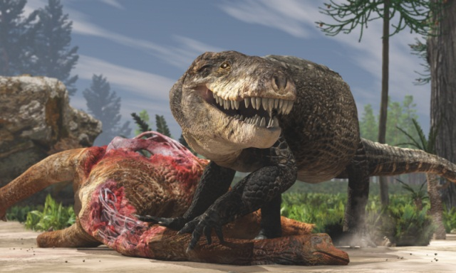 A big crocodile relative chewed up dinosaurs with its terrifying teeth