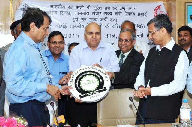 greeneco certificate railways suresh prabhu