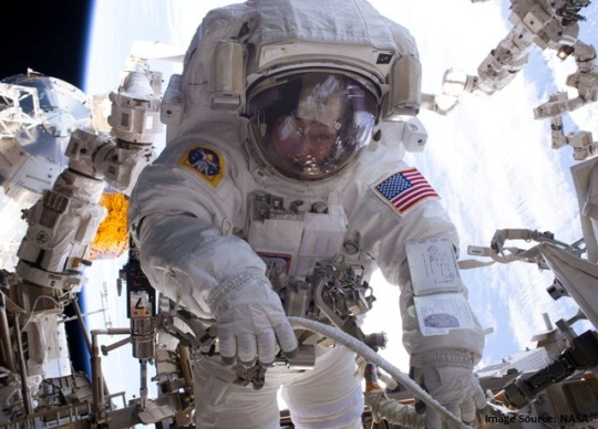 Peggy Whitson Spacewalking