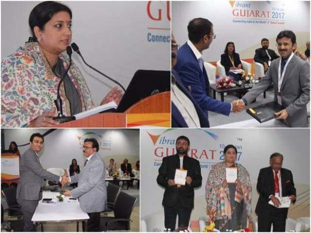 MoUs signed in textile in Gujarat