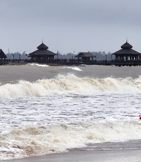 Typhoon Kujira struck