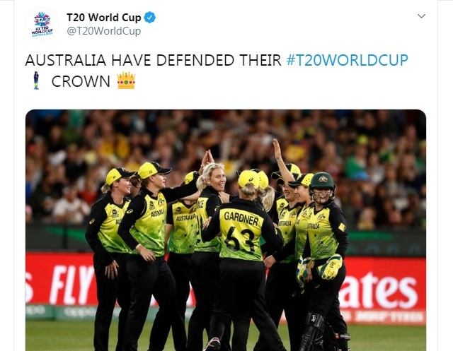 Australia beat India by 85 runs to lift trophy for record fifth time 2