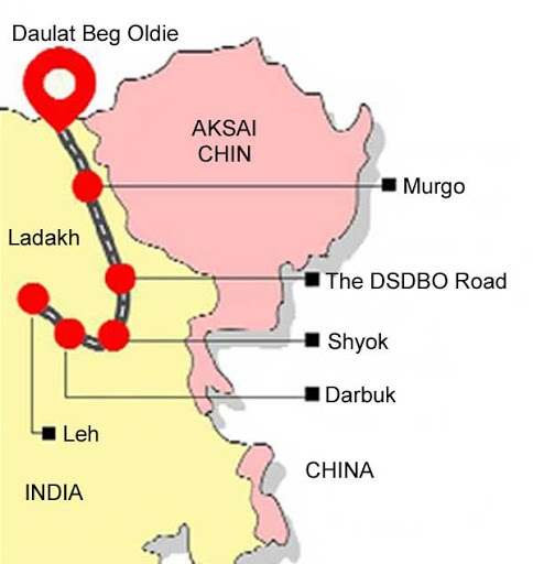 Darbuk-Shyok-Daulat-Beg-Oldi-road