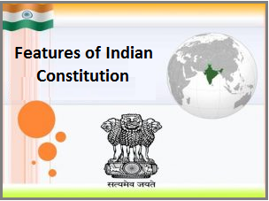 salient features of indian constitution in kannada