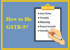How to file GSTR 9