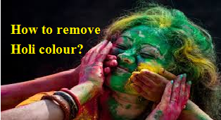 How to remove Holi Colour?