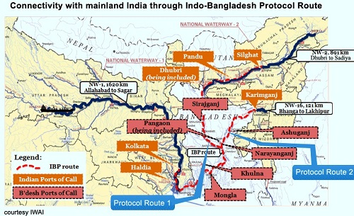 Inland-Water-Transit-and-Trade-between-India-and-Bangladesh-map