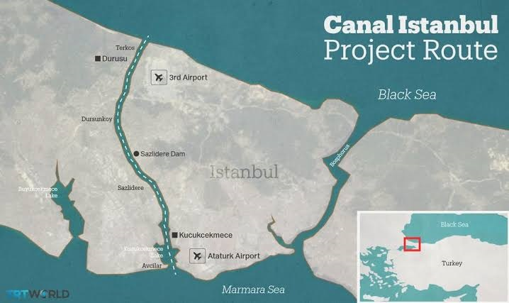 Kanal Istanbul Project of Turkey