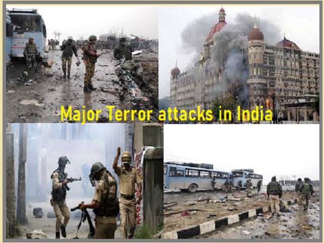 List of major terror attacks that shook India
