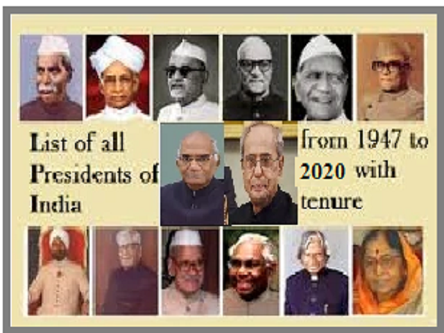 List of Presidents of India from 1947 to 2020