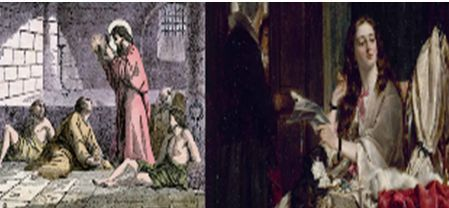 Saint Valentine imprisoned
