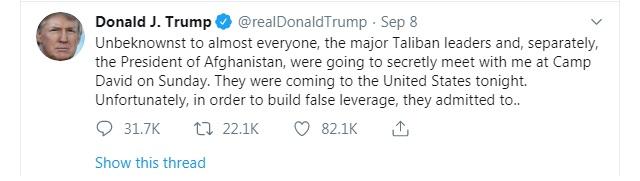 Trump-Taliban talks cancelled: Explained
