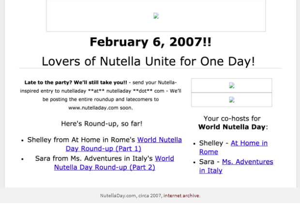 World Nutella Day: History