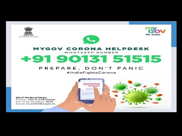 Government sets up Whatsapp help desk to respond to coronavirus queries 1