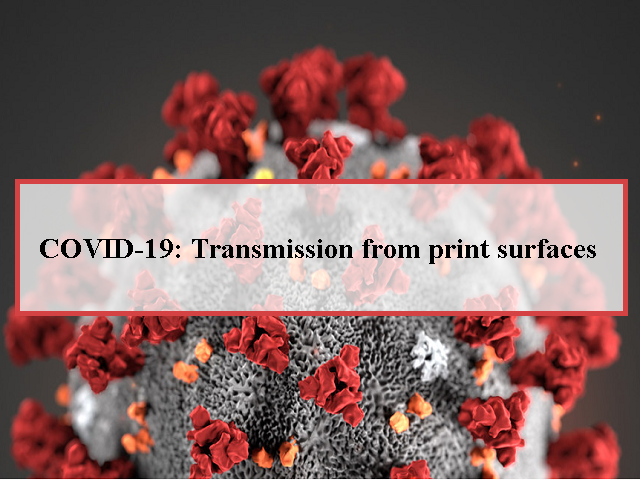 Image result for COVID-19 Transmission from Print Surfaces