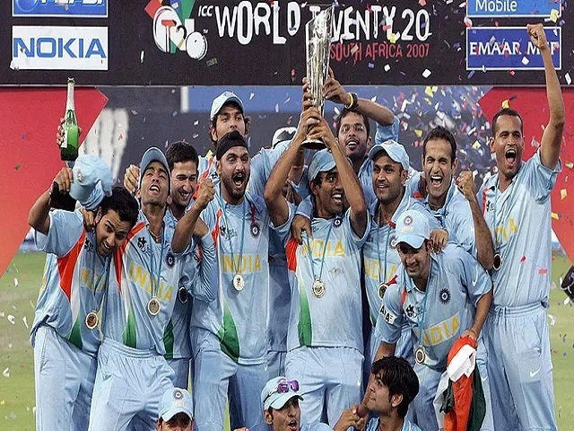 Indian Team after winning the T20 Cricket World Cup 2007