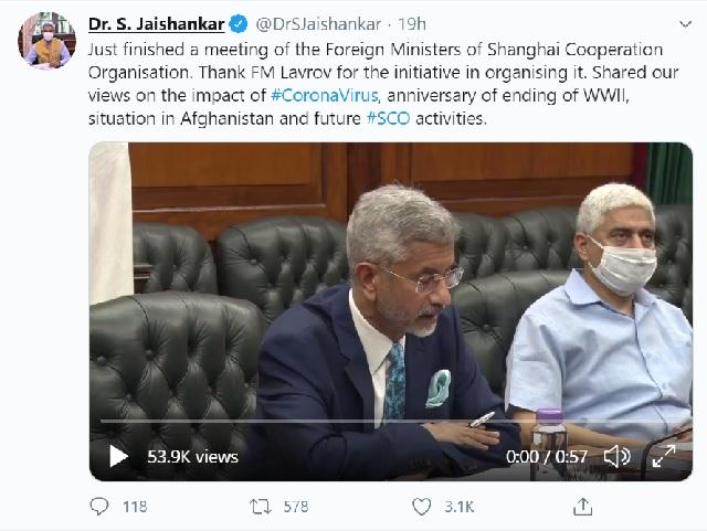 S. Jaishankar Tweet