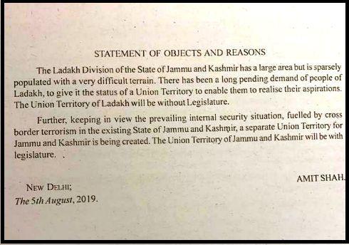 Jammu & Kashmir Bifurcated: J&K, Ladakh to be Union Territories