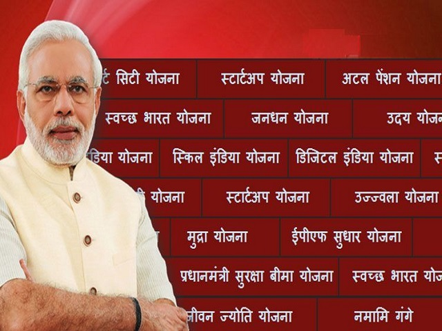 List of Schemes launched by the Narendra Modi