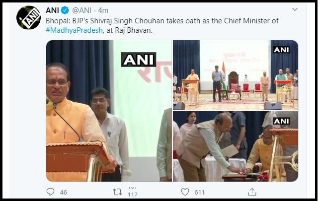 Shivraj Singh Chouhan sworn-in as MP CM