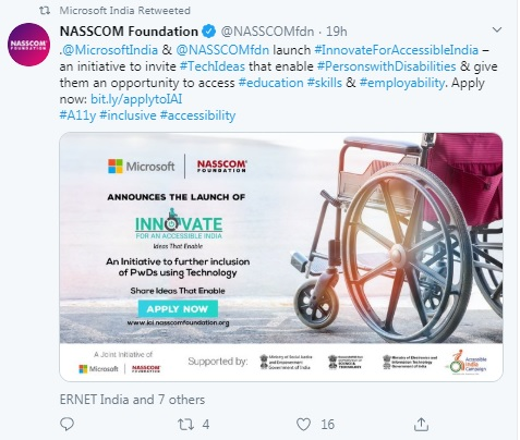 Microsoft India and NASSCOM campaign to empower People with Disabilities 1