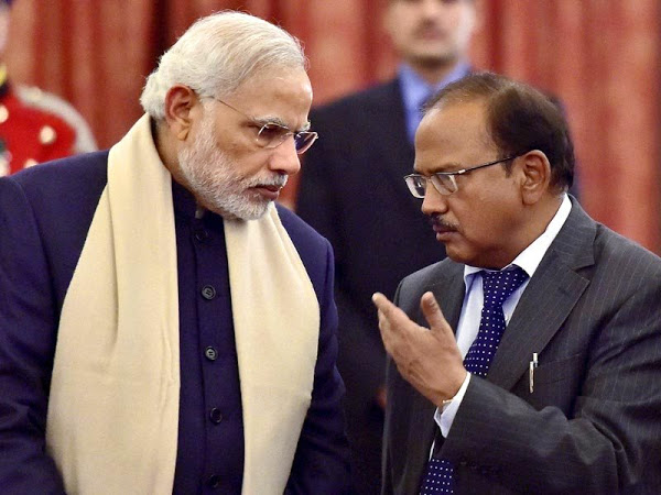 Ajit Doval with PM Modi