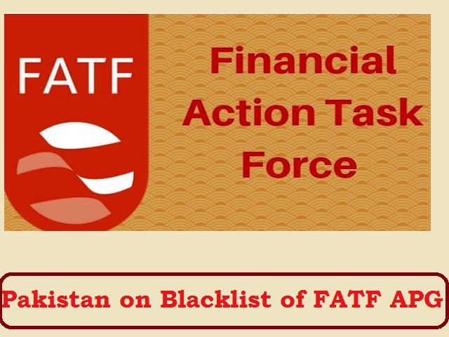 FATF Asia-Pacific Group blacklists Pakistan over non-compliance in terror financing