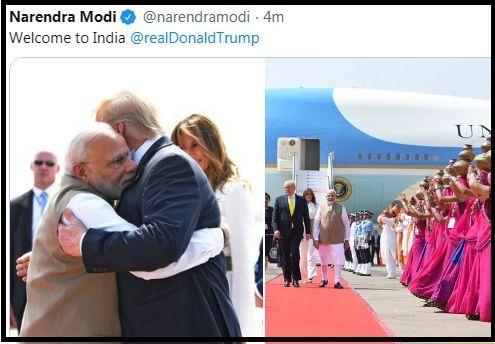 Modi welcomes Trump