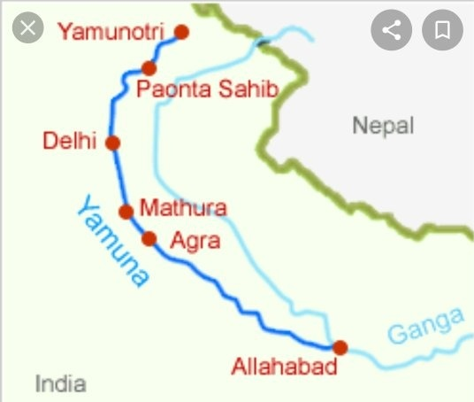 yamuna-river-map