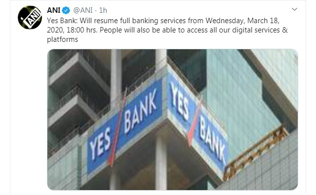YES Bank's full banking services to resume from March 18, new rescue plan comes into effect 1