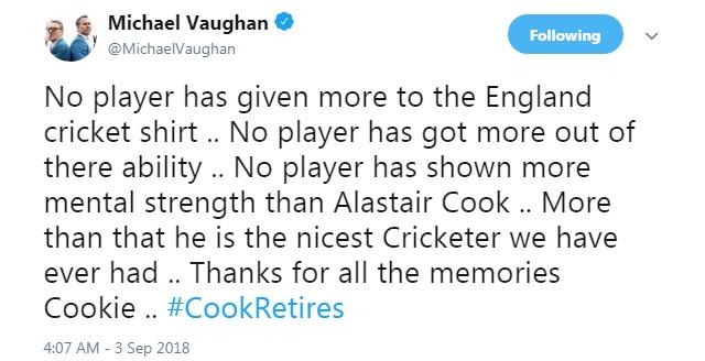 Former England Captain Alastair Cook announces retirement