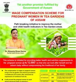 Assam to launch scheme to benefit pregnant women in tea gardens