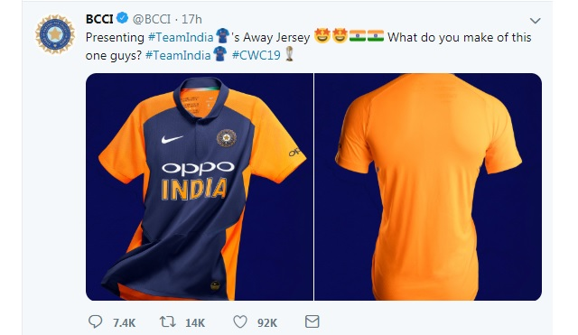 india s away orange jersey why does india need a new jersey