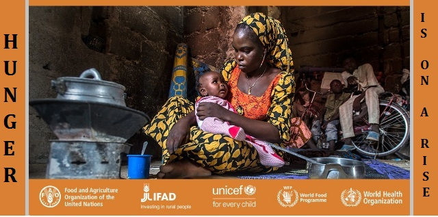 Hunger is on an alarming rise, reveals UN report