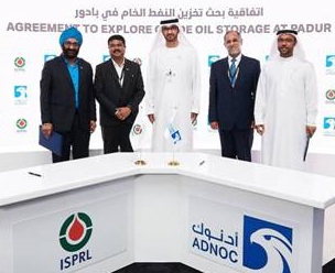 ISPRL, ADNOC sign MoU to explore storage of crude oil at Padur