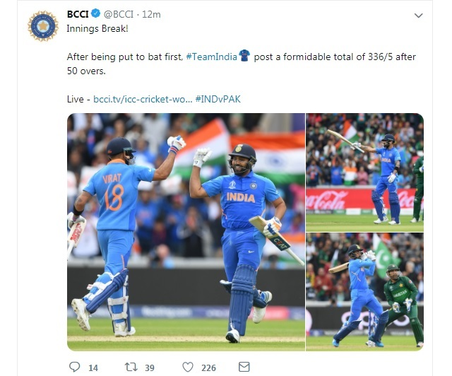 World cup news and photos india vs pakistan scorecard