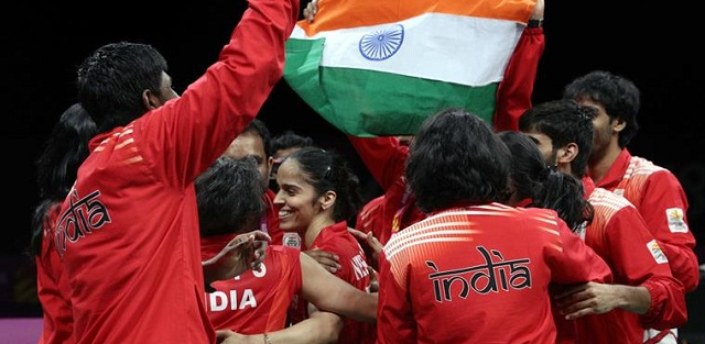 India wins first-ever gold in Badminton team event