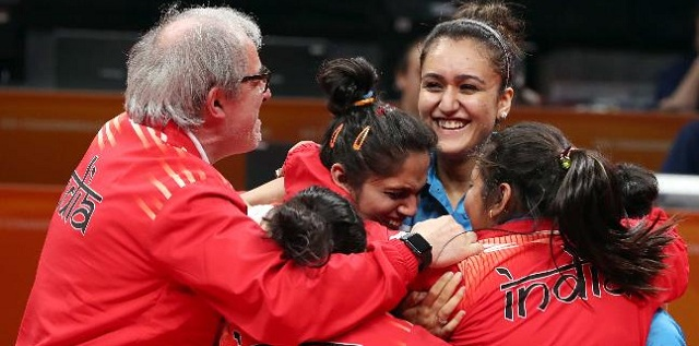 Indian team wins first-ever gold in women's table tennis event