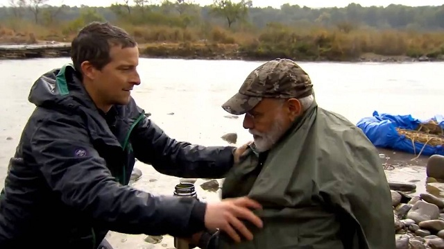 pm modi and bear grylls
